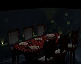3D model Dinner furniture table