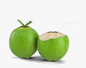 3D Green Coconut