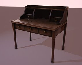 3D asset low-poly Writing Desk