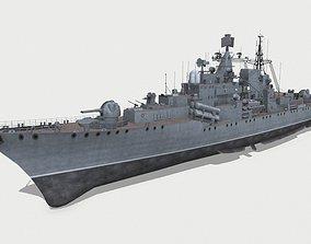 3D model Sovremenny-class destroyer 956