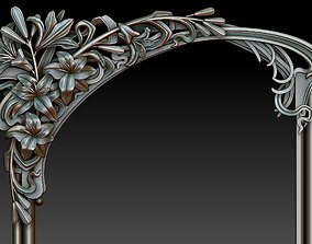 Decorative frame 5 3D model wall-mirror