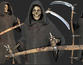 Grim Reaper Rigged with Scythe 3D asset