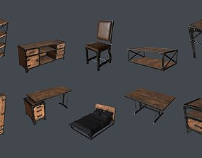 Industrial Style Furniture 3D model