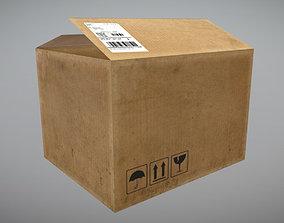 3D model realtime Cardboard Box