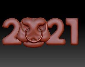 symbol 2021 3D printable model