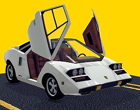 Cartoon Car - Lamborghini Countach 3D model