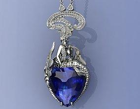 Mermaid Diamonds Pendant 3D printable model