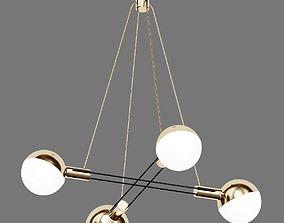 3D model Striking Stilnovo Four Large Globes