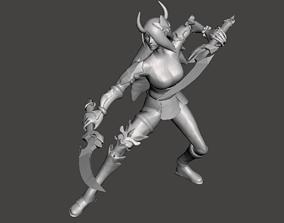 Battle Queen Katarina 3D Model