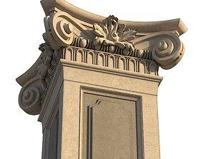 Restoration Detail 1 - Column and Pilaster 3D model