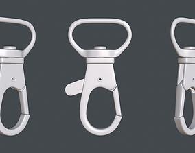 Metal carabiner for subdiv 3D model