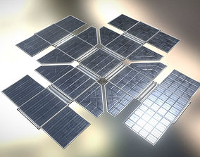 Futuristic Solar Power Module 3D model