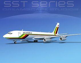 Boeing 707-320 SS Air Zimbabwe 3D