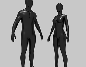 3D asset Mannequin Low Poly Rigged with high quality