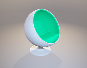 3D model office Egg chair