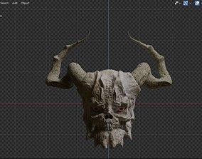 3D model Monster Head and horns