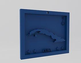 Cuba Map 3d Print Model