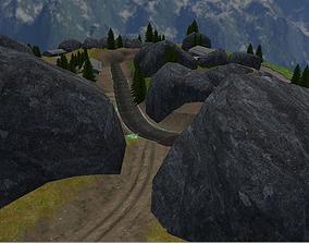 3D asset Hill Environment