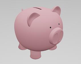 coin 3D print model Piggy bank