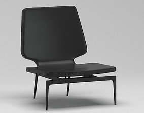 roberto 3D model Black Plastic Chair