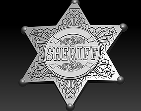 3D print model Sheriff badge 3