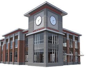3D Commercial Building-024 Office Building