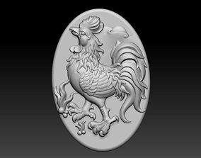 Pendant of rooster 3D print model