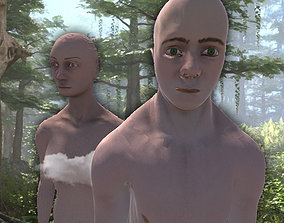 3D Realistic Male and Female Characters