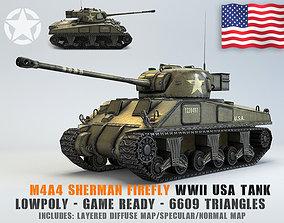 Low Poly M4A4 Sherman Firefly medium 3D asset