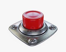 Button Red 3D model