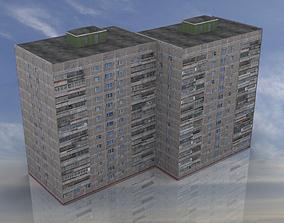 3D model Russian Apartment 14 Storey Building