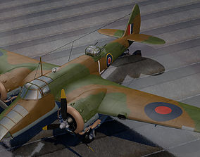 3D model Bristol Blenheim Mk-5 Bisley