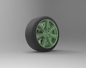 Bentley wheel with textures and tyre 3D