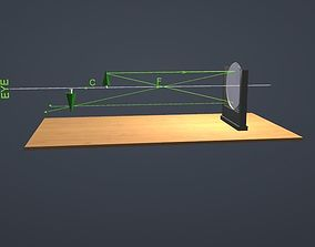 3D model Concave Mirror