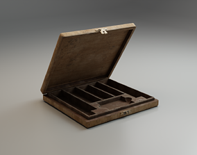 3D asset realtime Cigar Box