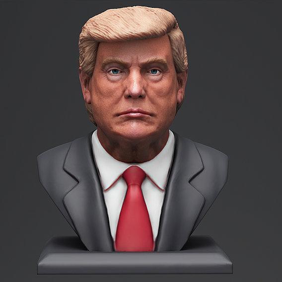 Donald Trump bust 3 3D print model