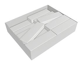 Chewing gum packs 3D model