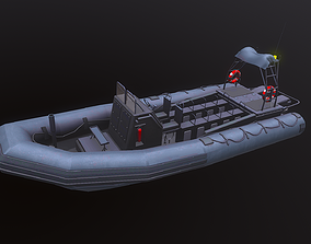 Inflatable Patrol Boat 3D asset