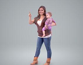 Woman Holding a Baby Girl CWom0203-HD2-O01P01-S 3D