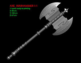 3D printable model Warhammer Axe