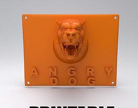 3D printable model angry dog