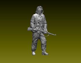 98k German soldier 3D print model