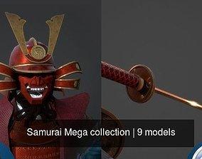Samurai Mega collection 3D model PBR