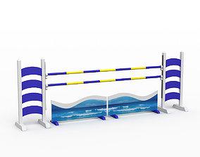 3d 3D Horse jump obstacle