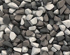 Rock brown white black stone n1 3D model