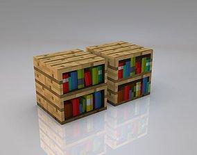 realtime 3D Minecraft Bookshelf
