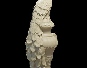 Peacock statue 3D printable model