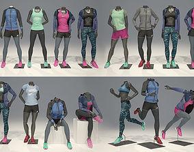 Woman mannequin Nike FULL PACK 3D model