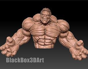 Hulk bust 3D print model hero