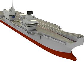 3D model HMS Queen Elizabeth Aircraft Carrier